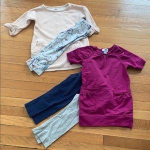3T EUC fall bundle of tunics and leggings